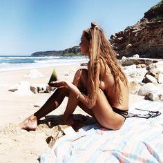 little black bikini bottom #ELLEMERswimwear
