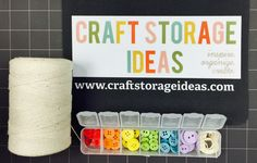 #Craftroom, #crafting supply #organization on a budget: We're focusing on #repurposing items for storing your favorite small #crafting supplies! These work well for #crafting, #artsupplies, #sewing, #needlearts, #papercrafting and lots of other crafting pursuits. Like what you see, please pin and share our ideas - thanks! #embellishments #jewelryfindings #beads #sewingnotions #artsupplies
