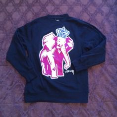 Urban Outfitters Crowned Elephant Pullover Awesome navy blue pull over with graphic elephant on the front in size small. Only worn a few times and still in great condition. Perfect for layering or as a statement piece! Urban Outfitters Sweaters Crew & Scoop Necks