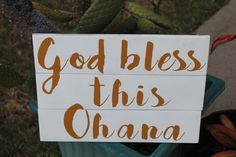 God bless this Ohana pallet wood sign Handmade on by FunKindSigns