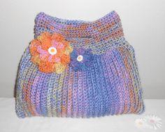 Crochet Tote Bag - Sunkissed Rainbow Terrifically Textured Tote, via Etsy.