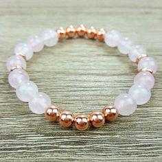 Rose Quartz & Rose Gold bracelet