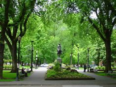 The green South Park in Portland, Oregon