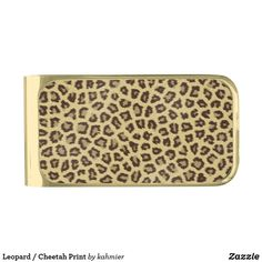Leopard / Cheetah Print Gold Finish Money Clip