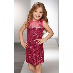 The Truly Fashion by Heidi Klum Pink Glitterati sheath-style dress for ages 3+ features pink sequin embellishments.