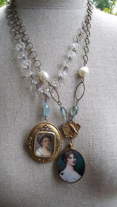 Georgian Beauty Vintage Assemblage Necklace by VintageTraveler