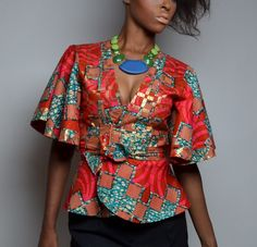 Veste Kimono imprimé africain