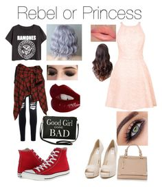 """""""Rebel or Princess"""" by calpal-drfluke-smash-mikerowave ❤ liked on Polyvore featuring Warehouse, Nly Shoes, Glamorous, Converse, Faith Connexion, Torrid and Charlotte Tilbury"""