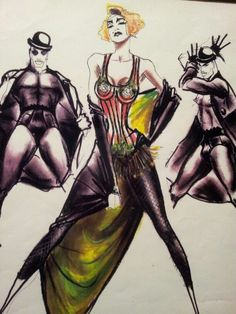 Jean Paul Gaultier drawing with Madonna, Kunsthal Rotterdam