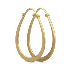 Classic Pear Hoop Earring - Gold