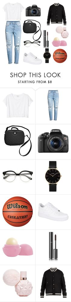 """""""VLOG 1"""" by reka15 on Polyvore featuring Monki, H&M, Dolce&Gabbana, Eos, CLUSE, NIKE, Chanel and Off-White"""