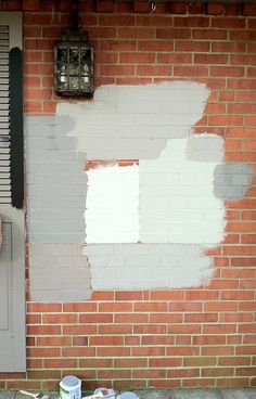 samples of painted brick-what to do?