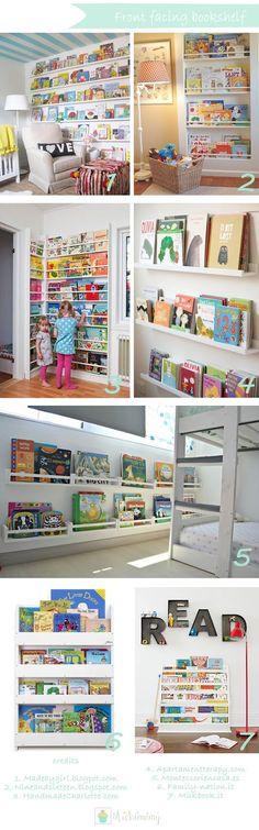 Quale miglior modo per invitare i bimbi alla lettura, semplice sistemarei librialla loro portata. Eh si la Montessori docet e l'ikea ai...