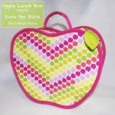 sac pomme DIY et patron gratuit : un sac en forme de fruit
