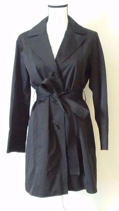 "Talbots trench coat. Top of shoulder to bottom of coat 33"". Top of shoulder to end of coat arm 23"". Underneath armpit to end of coat arm 17"". Size petite medium. Medium length. | eBay!"