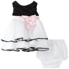 Rare Editions Baby Girls Newborn Soutach To Mesh Dress, Black/White, 6  Months Rare Editions,http://www.amazon.com/dp/B00CJ55CQ6/ref=cm_sw_r_pi_dp_cmgftb0GDGJCQXZ2