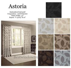 astoria chenille curtain drapery panels