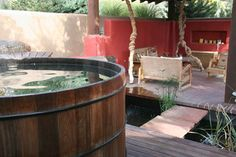 Landscape Hot Tub Design Pictures Remodel Decor And