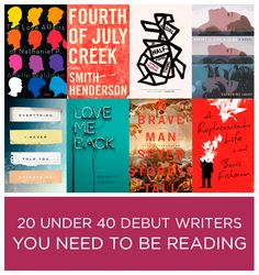 20 Under 40 Debut Writers You Need To Be Reading http://www.buzzfeed.com/jarrylee/20-under-40