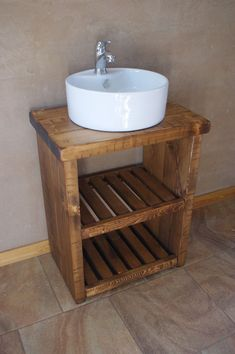 New Solid Wood Vanity Basin Unit. This beautiful unit has been made by skilled craftsman with years of experience. Handmade from chunky 5cm solid pine boards and finished with Osmo Hardwax Oil to protect wood against water. | eBay!