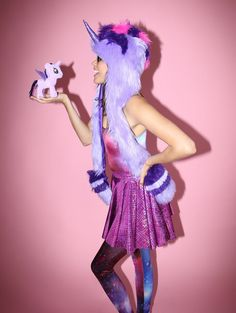My Little Pony Twilight Sparkle Collectors Edition faux fur animal inspired hood (100% Vegan). Unisex (one size fits most).