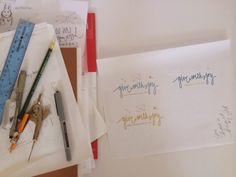 creating a brand + logo from sketch to vector // by aneta nina