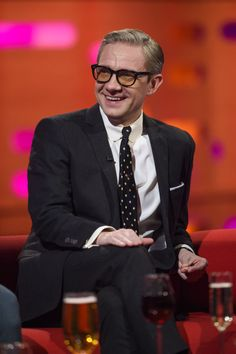 【HQ】April 28, 2016 - London, UK - Martin Freeman during filming of The Graham Norton Show, at The London Studios, south London, to be aired on BBC One on Friday evening.