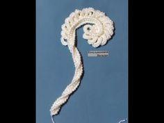 4 ый Урок Вяжем завиток на 3х гранной гусенничке для берета Бирюза в технике Ирландского кружева. - YouTube Crochet Paisley, Crochet Doily Patterns, Paisley Pattern, Crochet Doilies, Crochet Flowers, Crochet Lace, Russian Crochet, Form Crochet, Thread Crochet