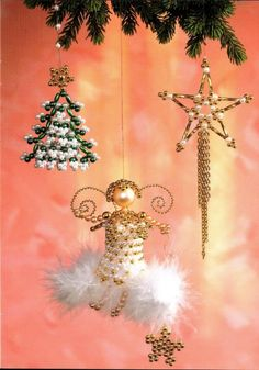 Christmas ornaments crafts with beads: Beaded ornaments