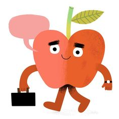 Loving this teaching thing! (Guess this is me.sans beard + I'm an apple? Retro Illustration, Going To Work, Cute Cartoon, Tweety, Childrens Books, My Arts, Apple, Instagram Posts, Artist