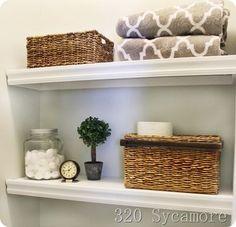 easy bathroom shelves