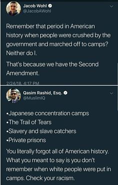 Remember that period in American history when people were crushed by the government and marched off to camps? That's because we have the Second Amendment. «Japanese concentration camps -The Trail of Tears oSI Mantra, Trail Of Tears, Faith In Humanity, Social Issues, Social Justice, Equality, Just In Case, Decir No, Thoughts
