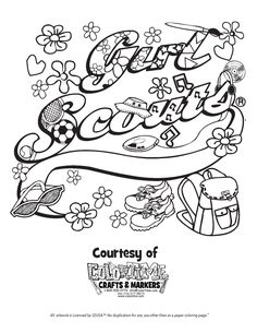 112 Best Girl Scout Coloring Pages & Printables images