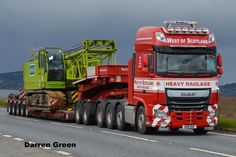 https://flic.kr/p/Hx4zpr | WEST OF SCOTLAND HEAVY HAULAGE DAF XF 510 FTM OB16 DAF | A96 Allanfearn with Kobelco crawler crane
