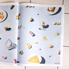 #WorldEggDay – who knew? Here are #eggs of all sizes and forms in a spread from photographer @kristian_beek's Mise en Place #newspaper  #newspaperclub #printsomething