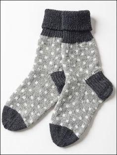 Prickiga strumpor i Novita Nalle och Novita Wool Crochet Socks, Knitted Slippers, Wool Socks, Knit Crochet, Knitting Socks, Hand Knitting, Knitting Patterns, Crochet Patterns, Patterned Socks