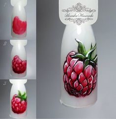 Try some of these designs and give your nails a quick makeover, gallery of unique nail art designs for any season. Fruit Nail Designs, Fingernail Designs, Creative Nail Designs, Creative Nails, Nail Art Designs, Food Nail Art, Fruit Nail Art, Nail Art Diy, Nail Manicure