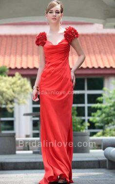 Sheath Scoop Floor Length Satin Prom Dress