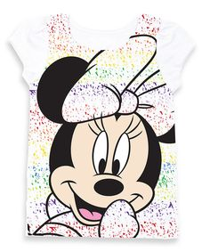 Look at this Minnie Rainbow Puff-Sleeve Tee - Toddler & Girls on #zulily today!
