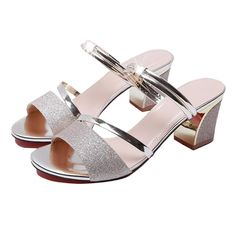 There is always many products on sae upto - High Heel Sandals Women Shoes Peep toe Square Heels Ladies Sandals 2020 Summer Shoes Woman Fashion Heel - Pro Shopperz Bling Sandals, Open Toe Sandals, Flat Sandals, Chunky High Heels, Thick Heels, Womens Summer Shoes, Womens High Heels, Peep Toe, Cheap High Heels