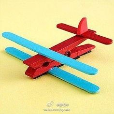 This would be a way cool idea with little kids. It's a 2 fer, you could make then paint or paint then make.  You could have squadrons of these, or put magnets on the back and use them to hang kids art! by IndulgenceLady102
