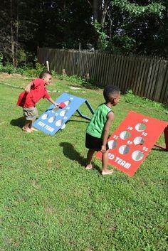 How to make a diy backyard bean bag toss game yard games tos Diy Yard Games, Diy Games, Backyard Games, Backyard Ideas, Diy Yard Decor, Diy Bean Bag, Bean Bag Games, Outside Games, Kids Bean Bags