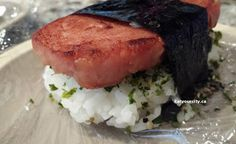 Spam musubi recipe - American Hawaiian classic - with egg and without! Gf Recipes, Home Recipes, Free Gf, Gluten Free, Spam Musubi, Entrees, Hawaiian, Soups, Pork
