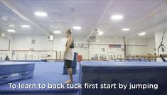 A tutorial on how to learn to back tuck - toptalent Fitness Workouts, Gym Workout Tips, Workout Videos, At Home Workouts, Parkour Workout, Boxing Workout, Gymnastics Tricks, Gymnastics Workout, Tumbling Gymnastics