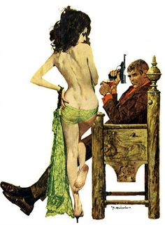 "Robert McGinnis - This picture appeared on the paperback titled ""The Man Inside"""
