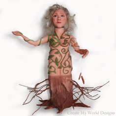 Polymer clay art doll - and the process to create it... by Create My World Designs