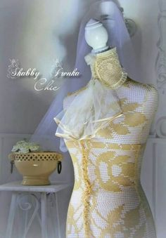 Laced dress form via shabbychicIrenka