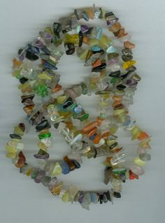 35in Mixed Gemstone and Glass Chip Beads by RockNBeads on Etsy, $3.00