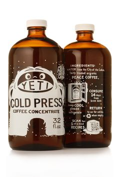 Yeti cold brew coffee packaging