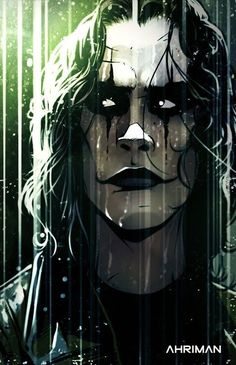 The Crow, Fantasy Anime, Dark Fantasy, Fantasy Art, Comic Book Characters, Comic Books Art, Comic Art, Crow Movie, Brandon Lee